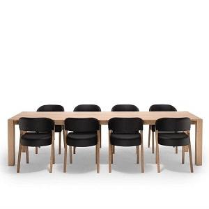 NocNoi Spisebordssæt i egetræ m. 8 stole
