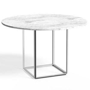 New Works Florence Dining Table White Carrera Marble