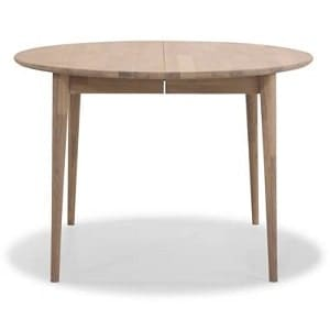 Rundt Futura egetræsbord med udtræk