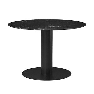 Rundt GUBI 2.0 spisebord i sort marmor